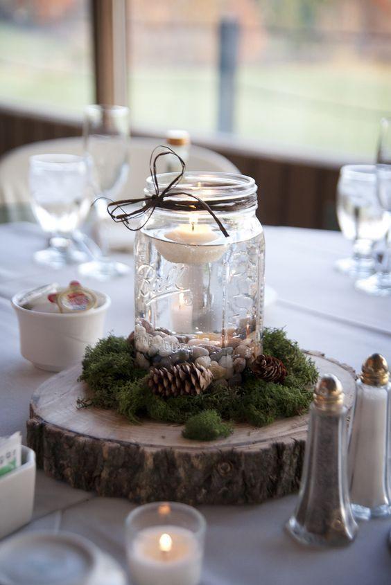 27 Wunderschöne Winter-Hochzeit Mittelstücke #winterrusticbabyshowerideas  – Dekoration Idees