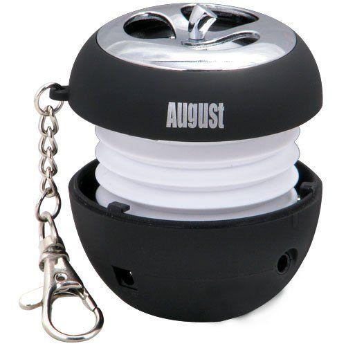 August MS310B Mini Enceinte MP3 Portable avec Haut-parleur Stéréo Intégré et LED Clignotant – Couleur : Noir VOIR OFFRES SPECIALES ET RECEVR...