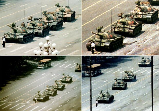 """Different Views/Video of ICONIC """"Tiananmen Square TANK MAN"""" _____________________________ Reposted by Dr. Veronica Lee, DNP (Depew/Buffalo, NY, US)"""