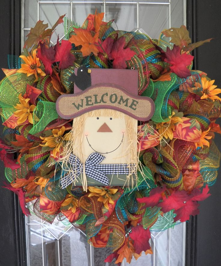 """27"""" Fall Wreath, Fall Decoration, Door Hanger, Wreath for Door, Wreaths, Ready to Ship by OccasionsBoutique on Etsy"""