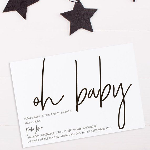 100 stunning printable baby shower invitations