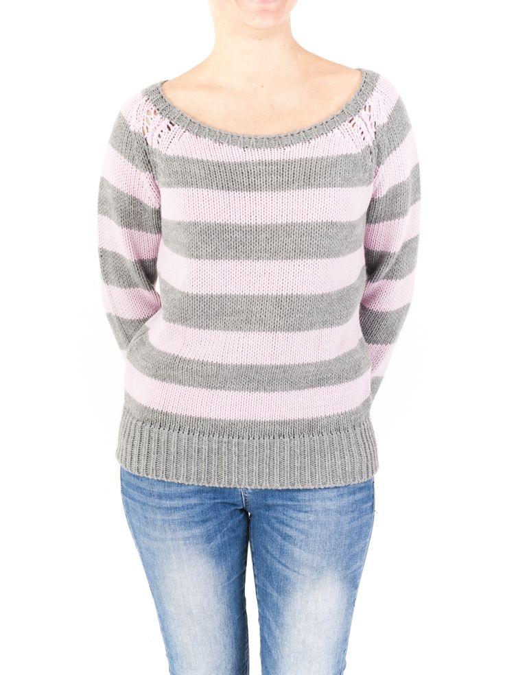 Jersey de punto para mujer con cuello redondo y rayado. Combínalo fácilmente con otras prendas de temporada. Lo tenemos en 4 colores. ¡Compra ahora!