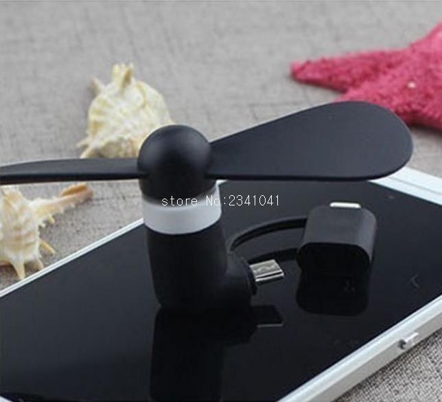 2 en 1 Teléfono Celular Portátil Mini USB Ventilador Eléctrico Del Ventilador de Refrigeración Del Ventilador Del Refrigerador Para el iphone Samsung para el Teléfono Android
