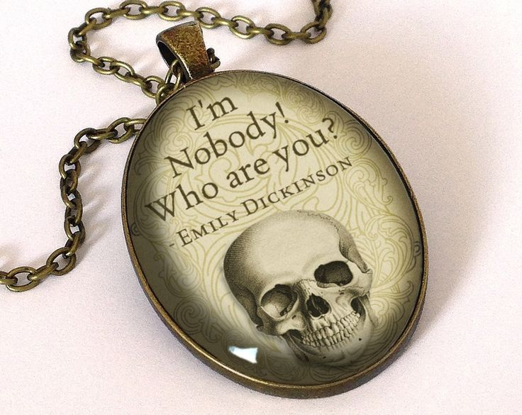 Quote Emily Dickinson, Pendant, 0683OPB from EgginEgg by DaWanda.com