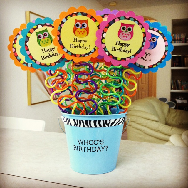 My version of the popular crazy straw birthday bouquet. I had so much fun making it!