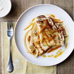 (British) pancakes with blood oranges and Greek yogurt - Sainsbury's Magazine.