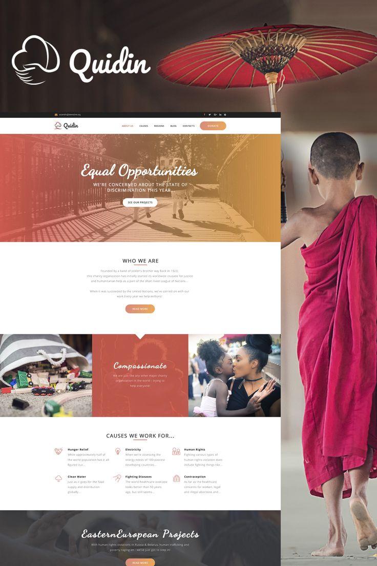 Quidin Charity Fully Responsive WordPress Theme