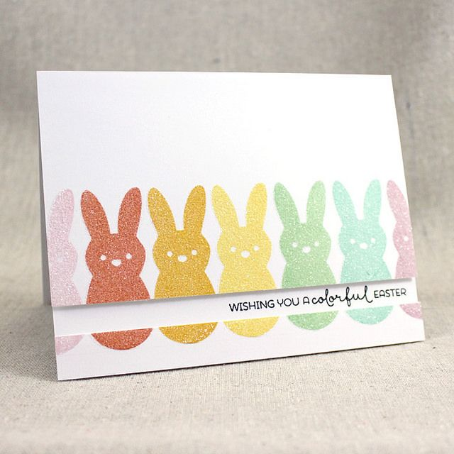 Colorful Easter Card by Lizzie Jones for Papertrey Ink (February 2016)