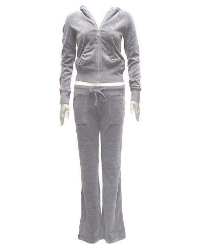 Ladies Plus Size Velour Hoody Tracksuit Kangaroo Pocket Grey FineBrandShop, http://www.amazon.com/dp/B005K1R2KK/ref=cm_sw_r_pi_dp_6a-grb075D5TX