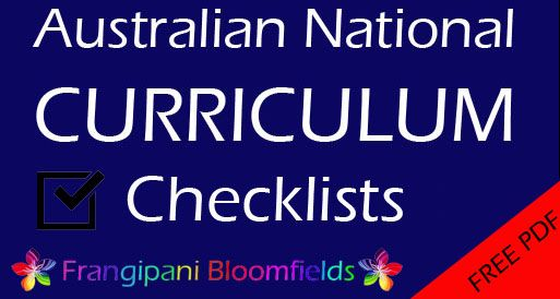 Free Australian National Curriculum progress reports / checklists in PDF form to…