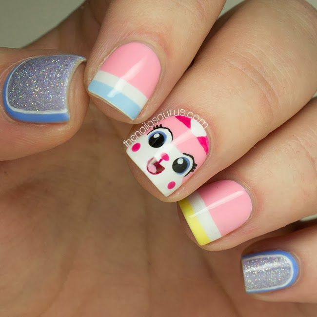 Unikitty Lego Nail Art! - The Nailasaurus