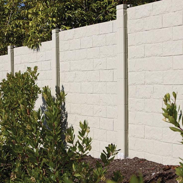 The 25 best Concrete fence ideas on Pinterest Fence design