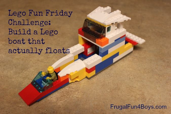 Lego building challenge - build a boat that actually floats