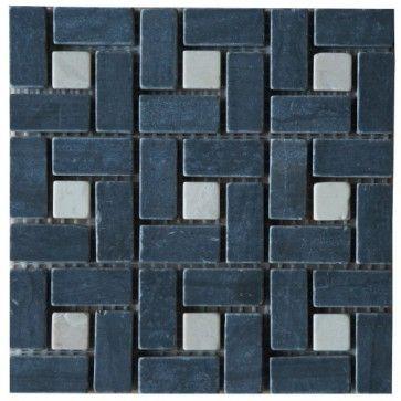 Mozaïek tegel marmer 15x15 cm | Marmersoort: Blackwood, Crema Marfil | Kleur: Zwart / creme / beige / wit | Geschikt voor badkamer, toilet, douche, keuken, woonkamer, slaapkamer, hal | Topmozaïek24