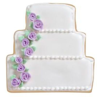 Michaels.com Wedding Department: Wedding Cake Cookies pMake cake-shaped cookies for your next bridal shower or reception. These would also make nice favors for your guests./ppDesigned by Wilton�/p