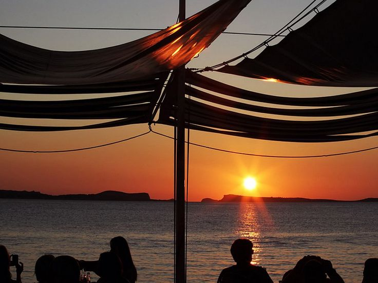 Sunset at Cafe Del Mar, Ibiza. The Original Sun Set Bar - Music Sunset and Fun.