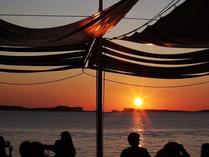 Sunset at Cafe Del Mar, Ibiza. The Original Sun Set Bar - Music Sunset and Fun.