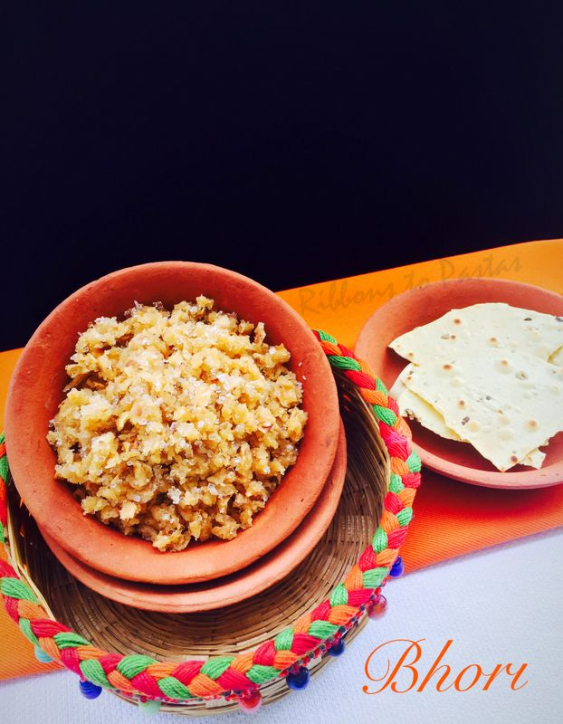 Ribbon's to Pasta's: B - Bhori / Crumbled Chapati with Butter and Sugar
