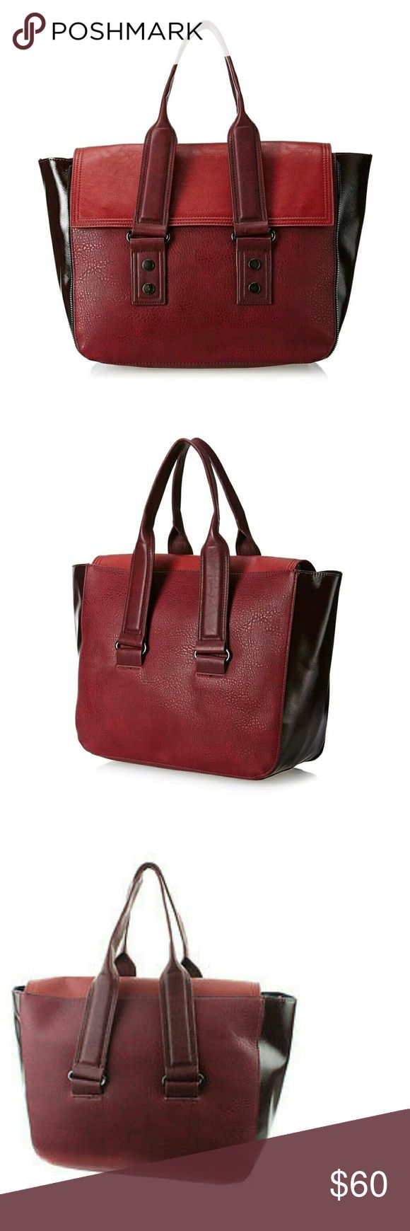 """French Connection elite tote burgundy work bag FRENCH CONNECTION Elite Tote Burgundy Womens Handbag  Retail $116 13"""" high 18.5"""" wide Burgundy French Connection Bags Totes"""