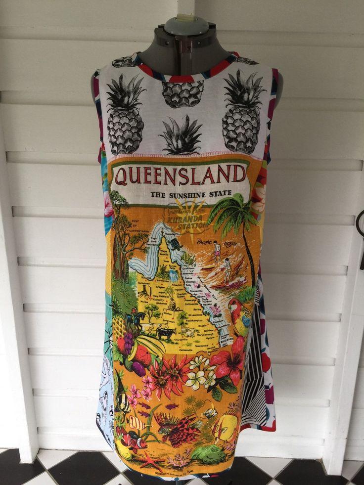Size 18 Queensland Pineapple Dress by StitchedUpBySmith on Etsy