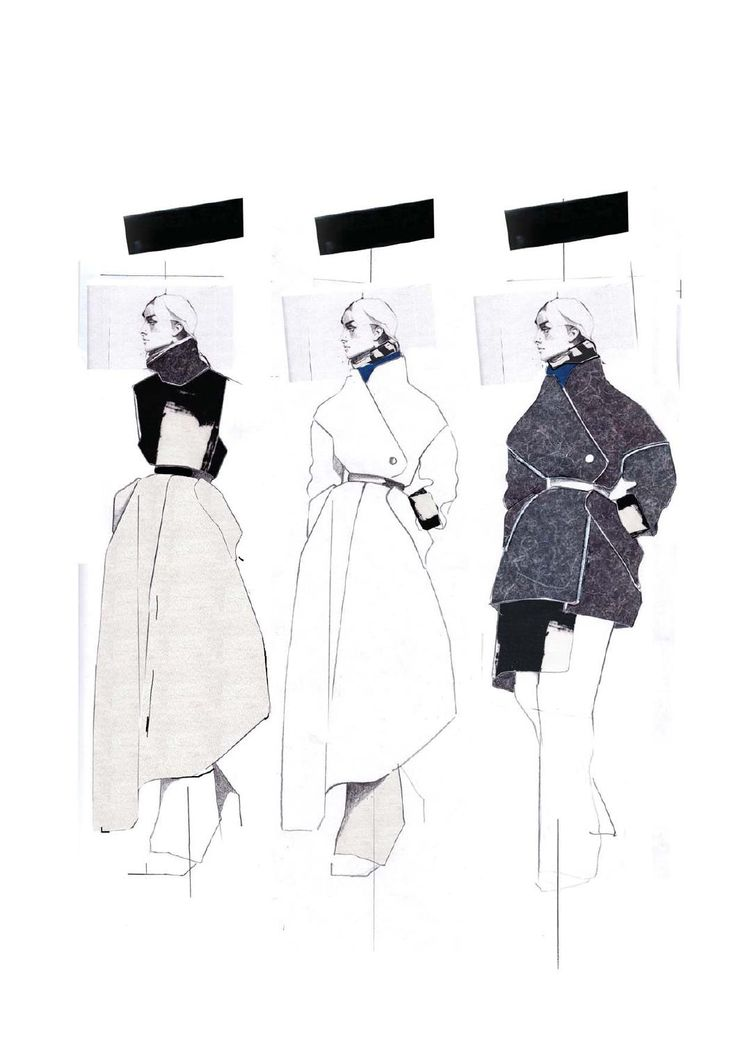Fashion Sketchbook - fashion design illustrations; fashion portfolio layout // Andrew Voss