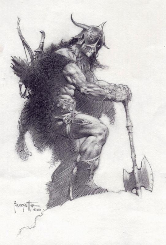 FRANK FRAZETTA PUBLISHED CONAN ILLUSTRATION Comic Art