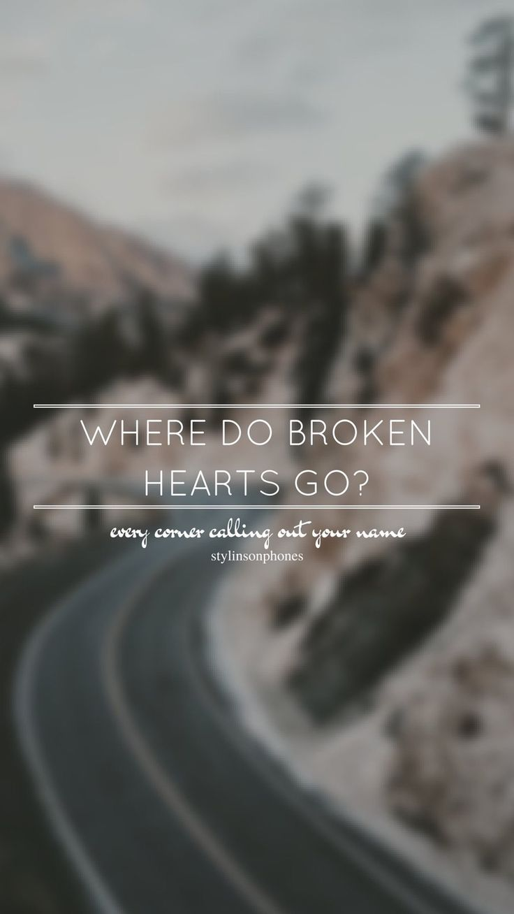 Where Do Broken Hearts Go // One Direction // ctto: @stylinsonphones (on Twitter)
