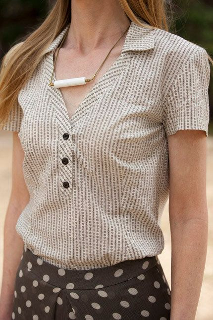 Tiltan Cotton Blouse. $99.00, via Etsy.