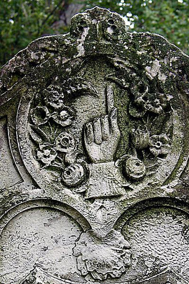 Check Out These Photo Gallery of Cemetery Symbolism: Hands - Pointing Finger