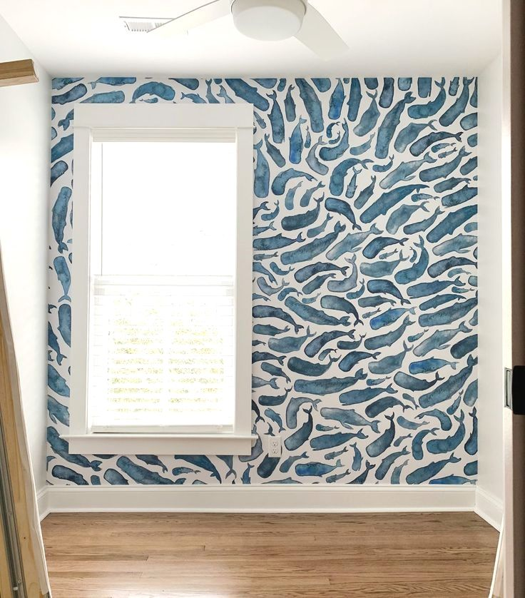 How To Install A Removable Wallpaper Mural Young House Love Home Wallpaper Removable Wallpaper Mural Wallpaper