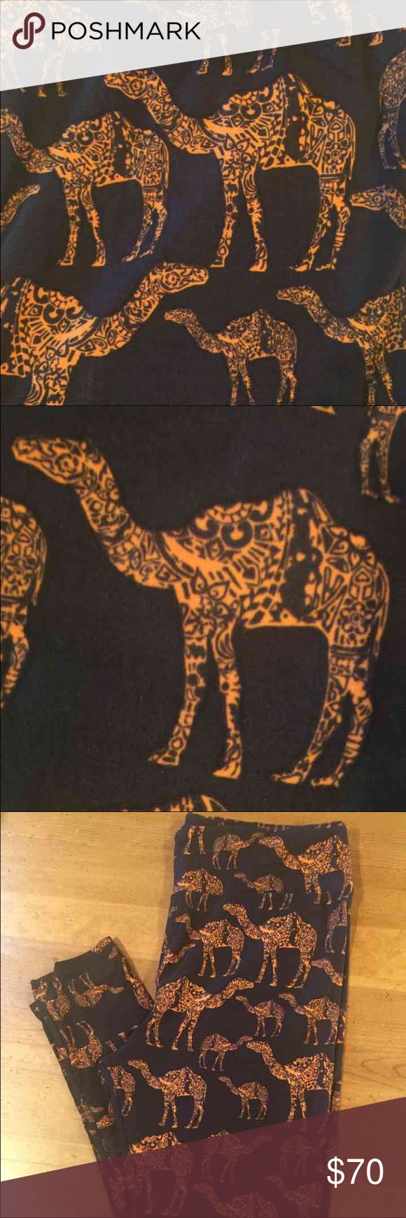 LuLaRoe TC CAMEL leggings Brand new in bag.  TC tall and curvy camel leggings.  Black background with mosaic camels.  Hard to find print!  *I am NOT a LuLaRoe consultant. Just an addict who loves to hunt for great prints.* LuLaRoe Pants Leggings
