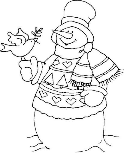 blackline christmas coloring pages - photo#48