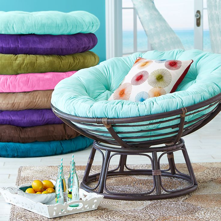 The pier 1 papasan color pad shown is their turquoise for Papasan seat