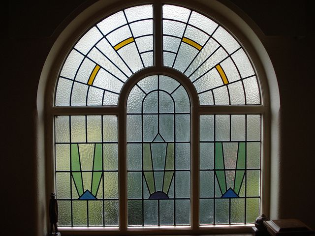 53 best Art Deco Stained Glass images on Pinterest | Stained glass ...