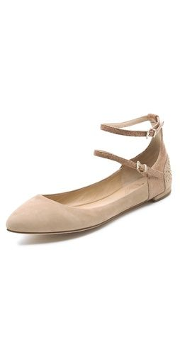 the perfect nude flat // loving the ankle straps