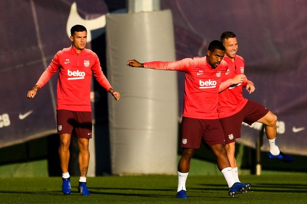 c27d0b985f08a FC Barcelona Training Session And Press Conference
