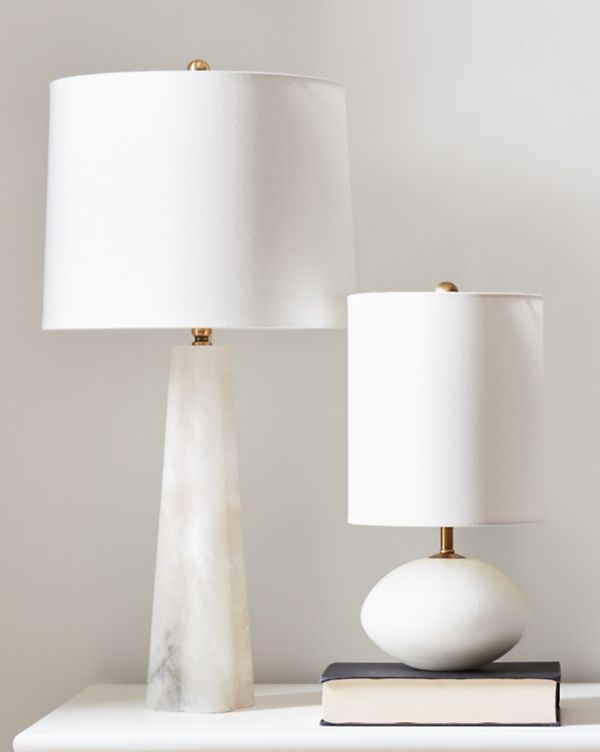 Alabaster Table Lamps Lighting Collection By Garnet Hill In 2021 Small Table Lamp Tall Table Lamps Table Lamp Lighting
