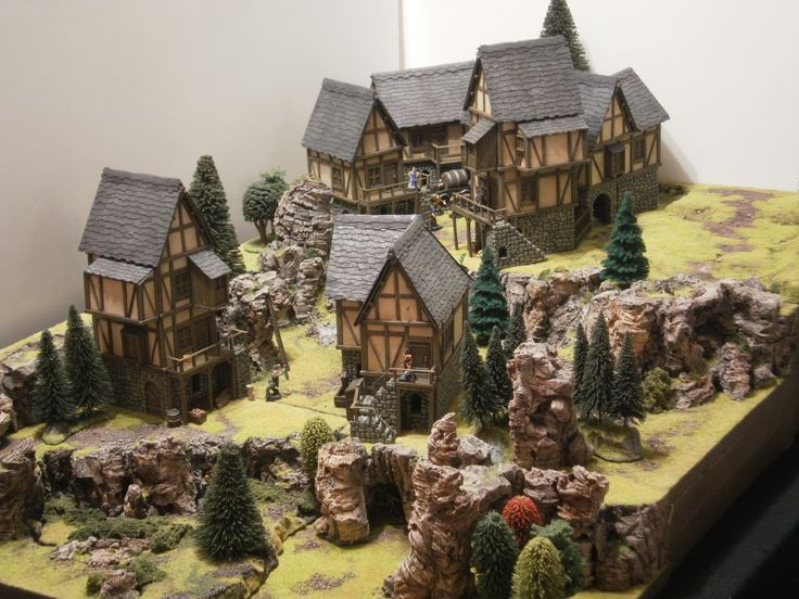 A Castle Arts Medieval Village. I'd love to make something like this. Let's go adventuring!
