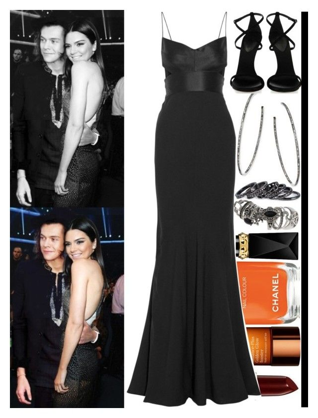 With Kendall Jenner And Harry Styles by angelbrubisc on Polyvore featuring mode, Narciso Rodriguez, J. Mendel, Topshop, Nina Gilin, Pieces, Samira 13, Accessorize, Christian Louboutin and Lancôme