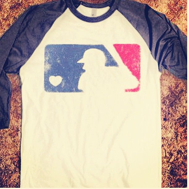 Cute baseball tee! Would be adorable with some cutoffs and Converse to wear in the stands during Joshua's games.
