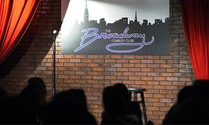 Groupon - Comedy Show for Two with Drinks and Tickets to a Future Show at Broadway Comedy Club in Broadway Comedy Club. Groupon deal price: $21