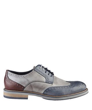 Rainer blue & grey leather shoes Sale - Versace 1969 Sale