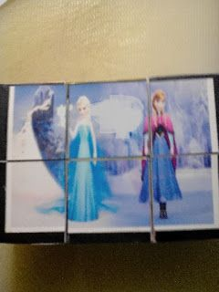 Puzzle for girls with Frozen princess with photograph paper