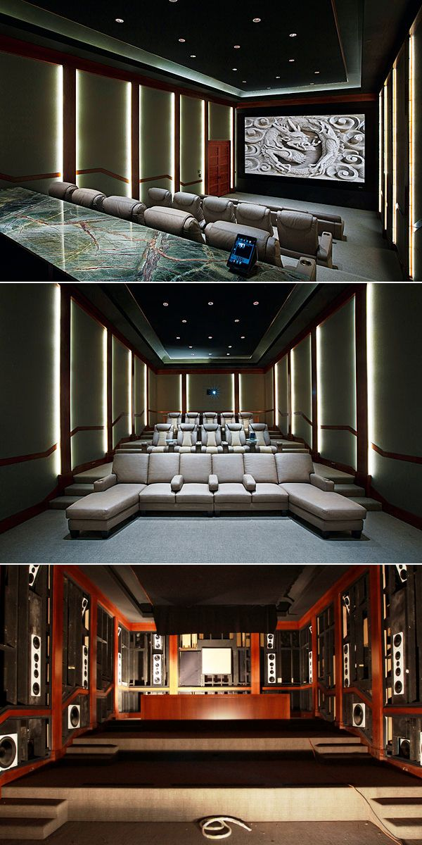 CEDIA award-winning home theater with 15.1 Auro-3D sound system.