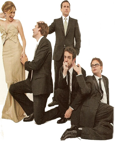 the office cast | Tumblr  Emmy win.  I wish JK was really proposing.  Then again, JF's husband probably wouln't have liked another guy proposing to his wife.
