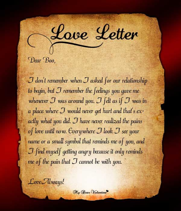 love letter collection relationship