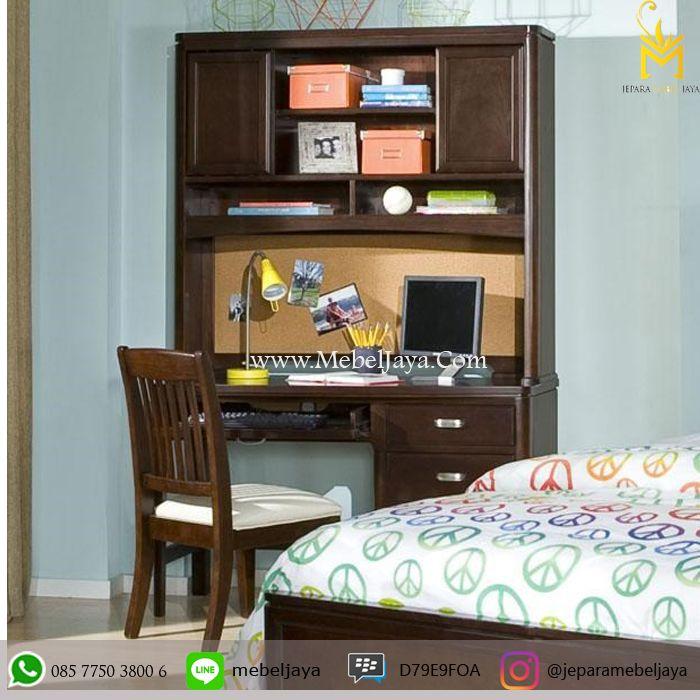 HARGA MEJA BELAJAR ANAK MURAH KAYU JATI - satu set meja belajar dengan kursi didesain secara menarik dengan material kayu jati dan finishing natural.