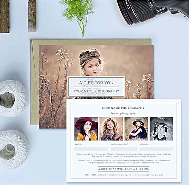 , The Advantages of Offering Photography Gift Certificate Template , Photography gift certificate template with attractive look can be the favorite option of your customers. Thus, to look up some references of the template can be valuable.