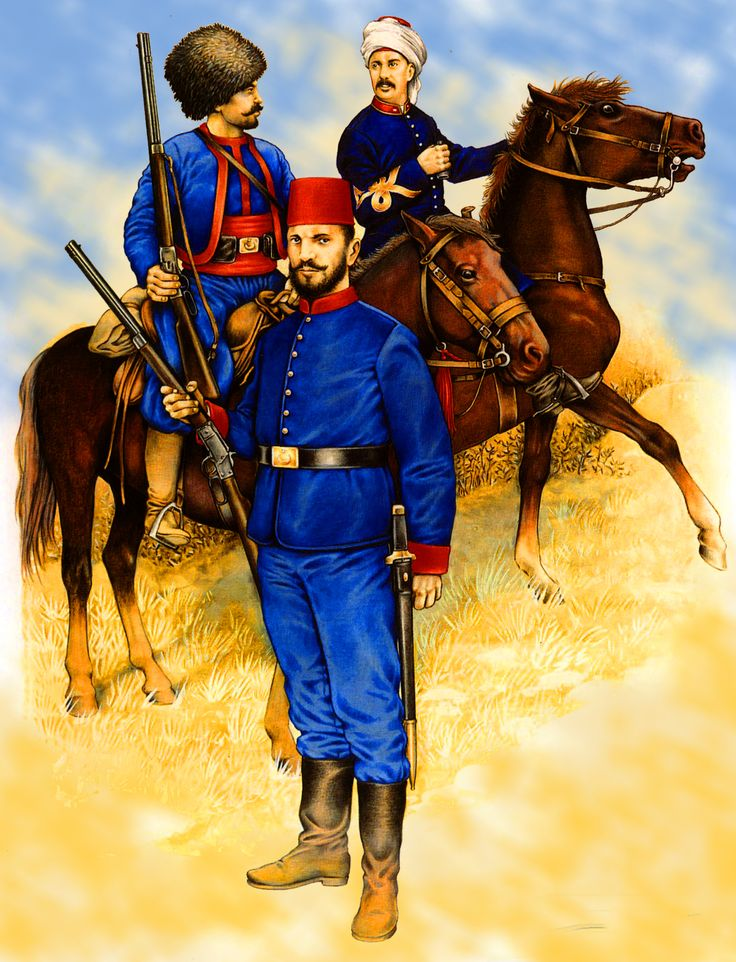 Turkish cavalry during The Russo-Turkish War 1877
