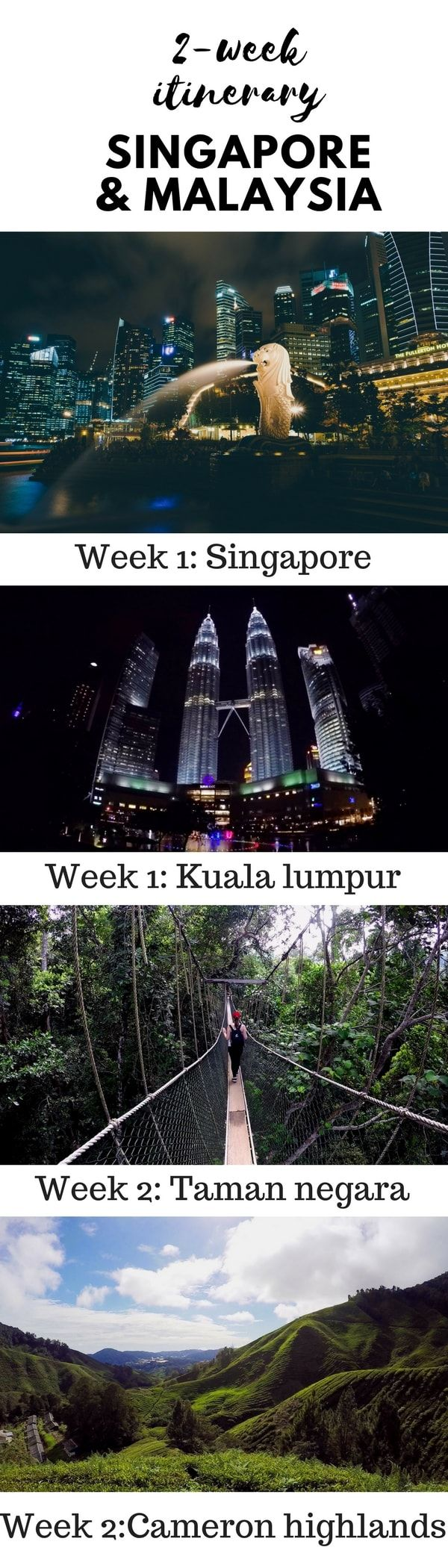 Two week itinerary- Malaysia, Singapore, What to do in Malaysia, What to do in Singapore, How to travel Malaysia, How to travel Singapore
